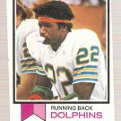 1973 Topps Football Card #48 Mercury Morris Miami Dolphins PR