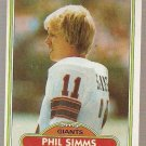 1980 Topps Football Card #225 Phil Simms RC New York Giants EX-MT