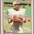 1981 Topps Football Card #405 Ken Stabler Houston Oilers NM
