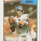 1987 Topps Football Card #31 John Elway Denver Broncos NM