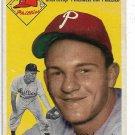 1954 Topps Baseball Card #78 Ted Kazanski RC Philadelphia Phillies GD