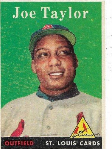 1958 Topps Baseball Card #451 Joe Taylor RC St. Louis Cardinals FR