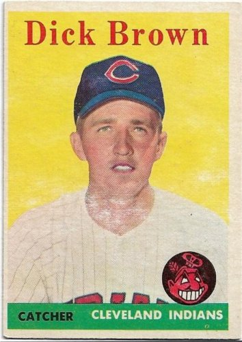 1958 Topps Baseball Card #456 Dick Brown RC Cleveland Indians FR