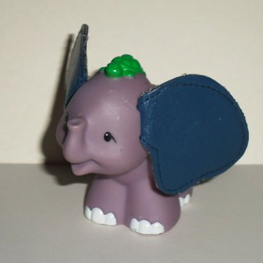 Fisher-Price Little People 2005 Touch & Feel Elephant w/ Turtle on Head & Leathery Ears Loose Used