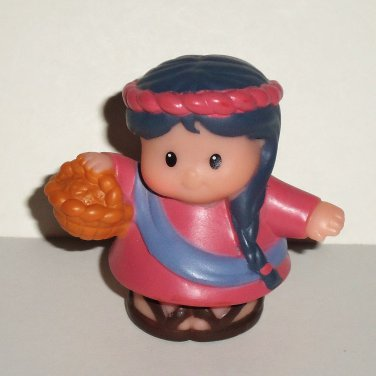 Fisher-Price Little People Noah's Wife Figure For B4249 Noah's Ark Set Loose Used