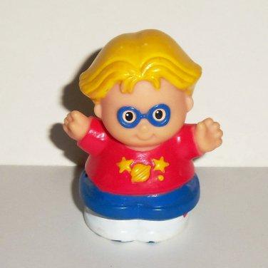 Fisher-Price Little People Eddie w/ Glasses Figure Mattel 1998 Loose Used