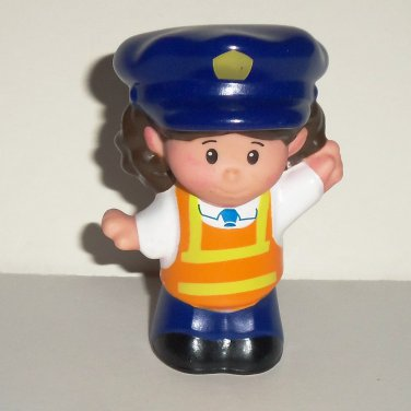 Fisher-Price Little People Bus Driver Figure from BGC58 Lil Movers School Bus Mattel 2013 Loose Used