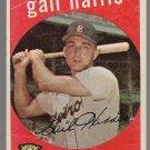 1959 Topps Baseball Card #378 Gail Harris Detroit Tigers GD