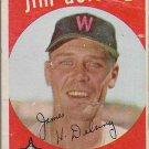 1959 Topps Baseball Card #386 Jim Delsing Washington Senators GD