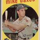 1959 Topps Baseball Card #381 Mike Baxes Cleveland Indians GD