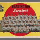 1959 Topps Baseball Card #397 Washington Senators Checklist GD