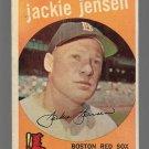 1959 Topps Baseball Card #400 Jackie Jensen Boston Red Sox GD