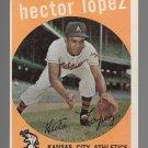 1959 Topps Baseball Card #402 Hector Lopez Kansas City Athletics GD A