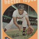 1959 Topps Baseball Card #402 Hector Lopez Kansas City Athletics GD B