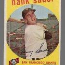 1959 Topps Baseball Card #404 Hank Sauer San Francisco Giants GD