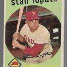 1959 Topps Baseball Card #412 Stan Lopata Philadelphia Phillies GD B