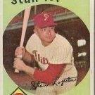 1959 Topps Baseball Card #412 Stan Lopata Philadelphia Phillies GD A