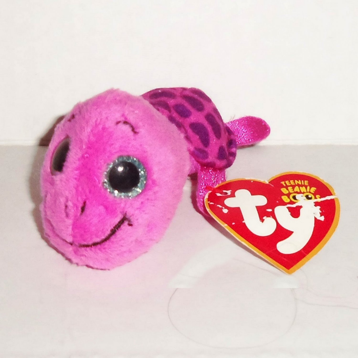 19d9743f268 McDonald s 2017 Ty Teenie Beanie Boos Myrtle Pink Happy Meal Toy Babies  Damaged Swing Tag Loose Used