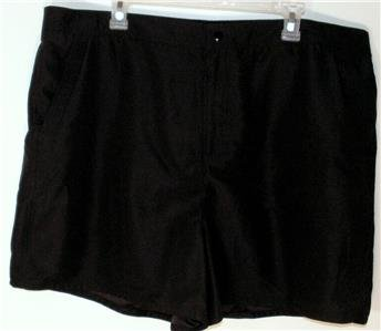 WOMEN'S PLUS SIZE 22W BLACK SHORTS TUMMY SLIMMER COMFY! SOFT FEEL! MSRP $46 NWT!