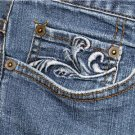 STYLE & CO. WOMEN'S PLUS SIZE 24W BLUE JEANS STRETCH WITH EMBROIDERED POCKETS