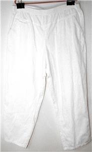 WOMEN'S/MISSES SIZE 20P, WHITE FINE CORDUROY COTTON PANTS COMFORT FIT/WAISTBAND