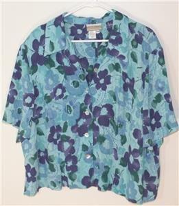 COLDWATER CREEK PLUS SIZE 20W BLUE/PURPLE FLORAL 2-PIECE SLEEVELESS MAXI DRESS