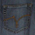 "JMS SIZE 18W SHORT DENIM BLUE JEANS MODERN BOOTCUT 5-POCKETS ""JUST MY SIZE"""