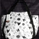 CAT TOTE EXTRA LARGE BLACK-WHITE W/HEARTS ADORABLE! NWT! 4 CAT LOVERS ALL AGES!