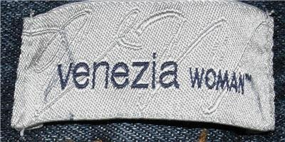 VENEZIA BLUE DENIM JEANS WOMEN'S PLUS SIZE 34WP BOOT CUT 100% COTTON MEDIUM WASH