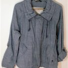 EDDIE BAUER SIZE MEDIUM BLUE DENIM-LIKE JACKET LIGHTWEIGHT WITH THE DENIM LOOK!
