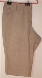 CATO WOMAN'S PLUS SIZE 24W BIEGE/TAN CAPRI PANTS WIDE LEG PERFECT FOR SUMMER!