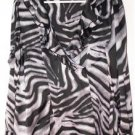 EAST 5TH WOMAN - PLUS SIZE 1X BLOUSE ZEBRA PATTERN IN BLACK-WHITE-GRAY LOVELY!
