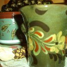 Eldreth Pottery Redware green vase