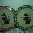 Henn Workshops Shivers Salad plate Cranberry Sponged