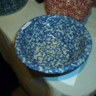"Henn Workshops blue sponged 6"" serving bowl similar to porridge"