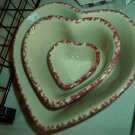 Henn Workshops cranberry sponged small heart bowl