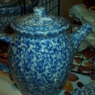 Henn Workshops blue sponged quiet time collectors society teapot