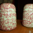 Henn Workshops rose Sponged salt & pepper set