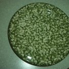 Henn Workshops green sponged dinner plates set of 2 used