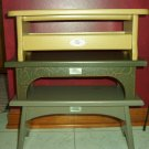 Henn Workshops 1998 aged green canterbury shaker step stool collector society limited edition
