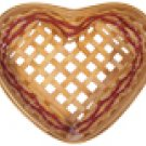 Henn Workshops Steve's heart basket fruitwood stain with cranberry