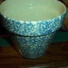 """Henn Workshops blue sponged 5 1/2"""" flower pot"""