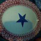 "Gerald E Henn Workshops old glory 13"" oval platter"