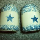 Henn Workshops blue Sponged star pattern salt & pepper set