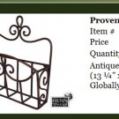 Henn Workshops wrought iron provence basket