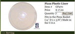 Henn Workshops pizza basket liner
