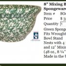 "Henn Workshops green Sponged 8"" mixing bowl"