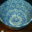 "Henn Workshops blue Sponged 4 1/2"" mixing bowl"