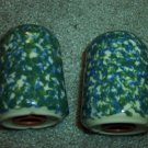 Henn Workshops double blue/green Sponged salt & pepper set