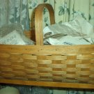 Henn Workshops large gathering basket 1 stationary handle in fruitwood stain